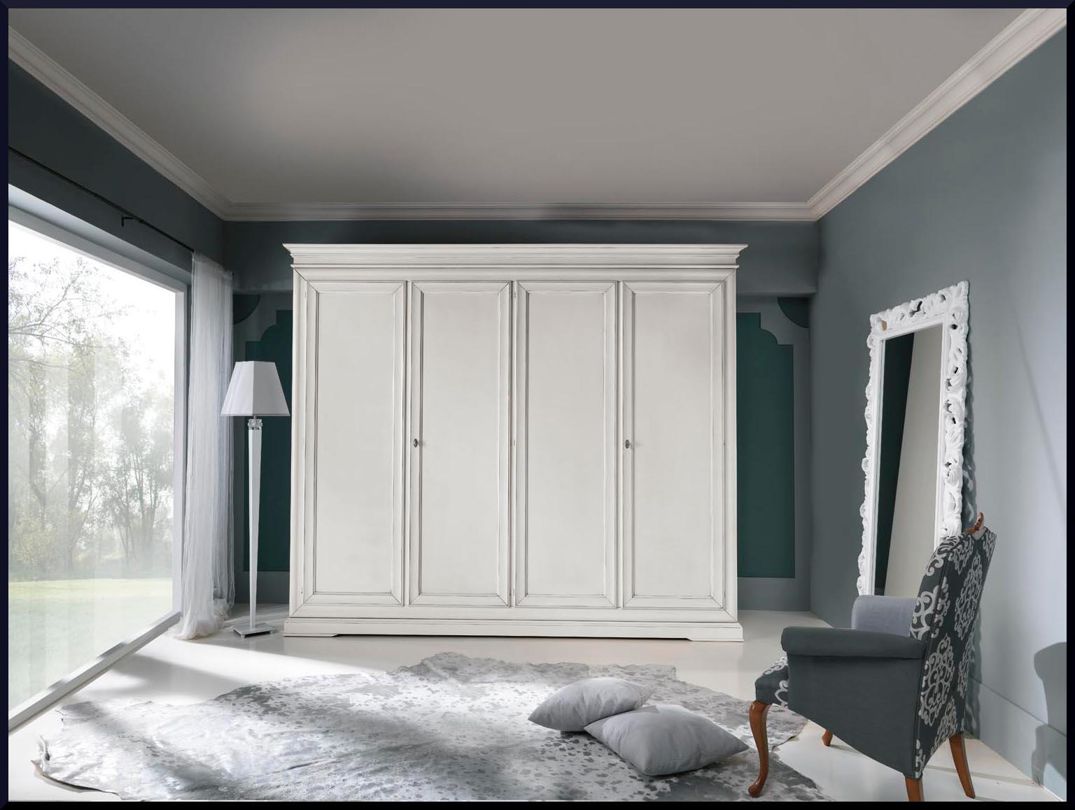 Armadio 4 porte laccato bianco