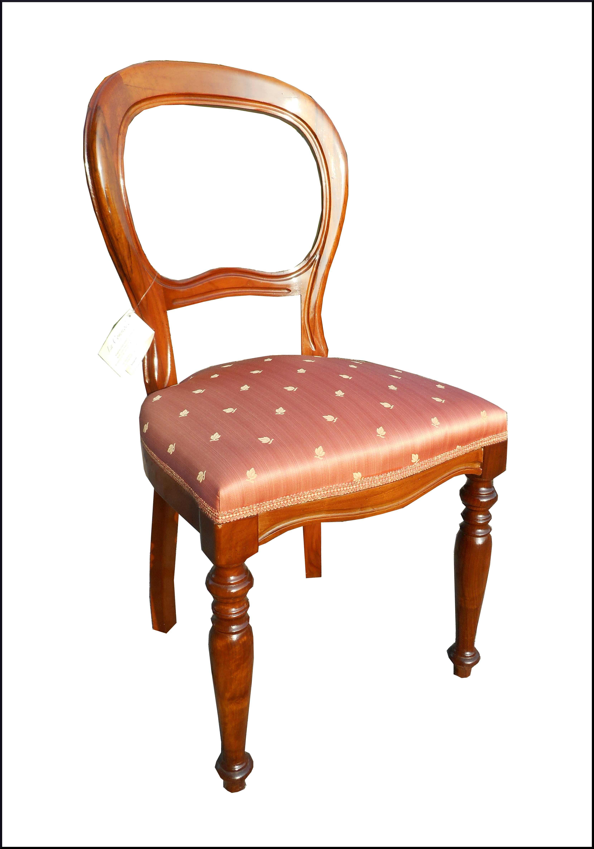 Eleganti sedie Luigi Filippo gamba tornita
