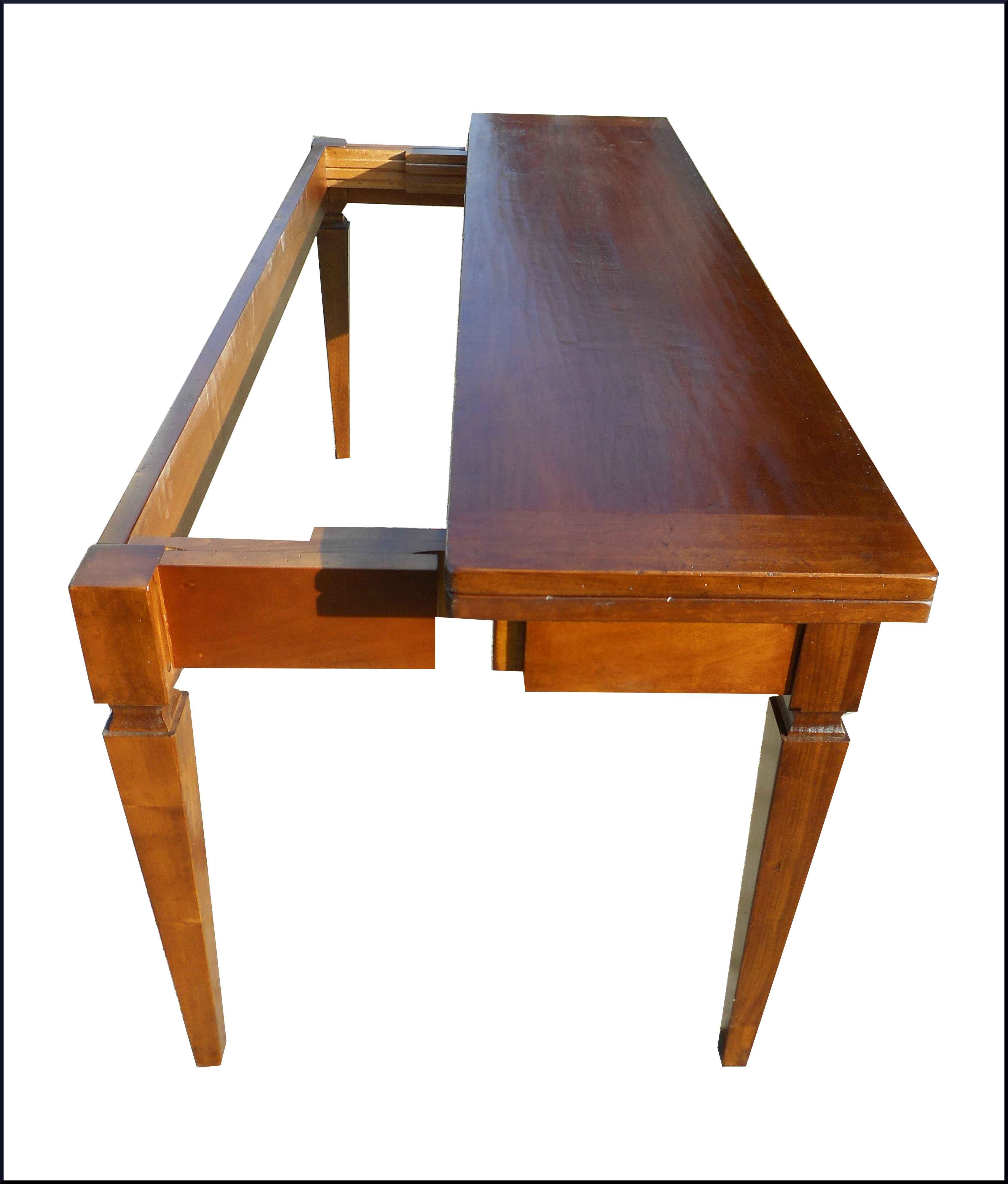 Particolare tavolo a consolle apribile a libro con for Tavolo apribile
