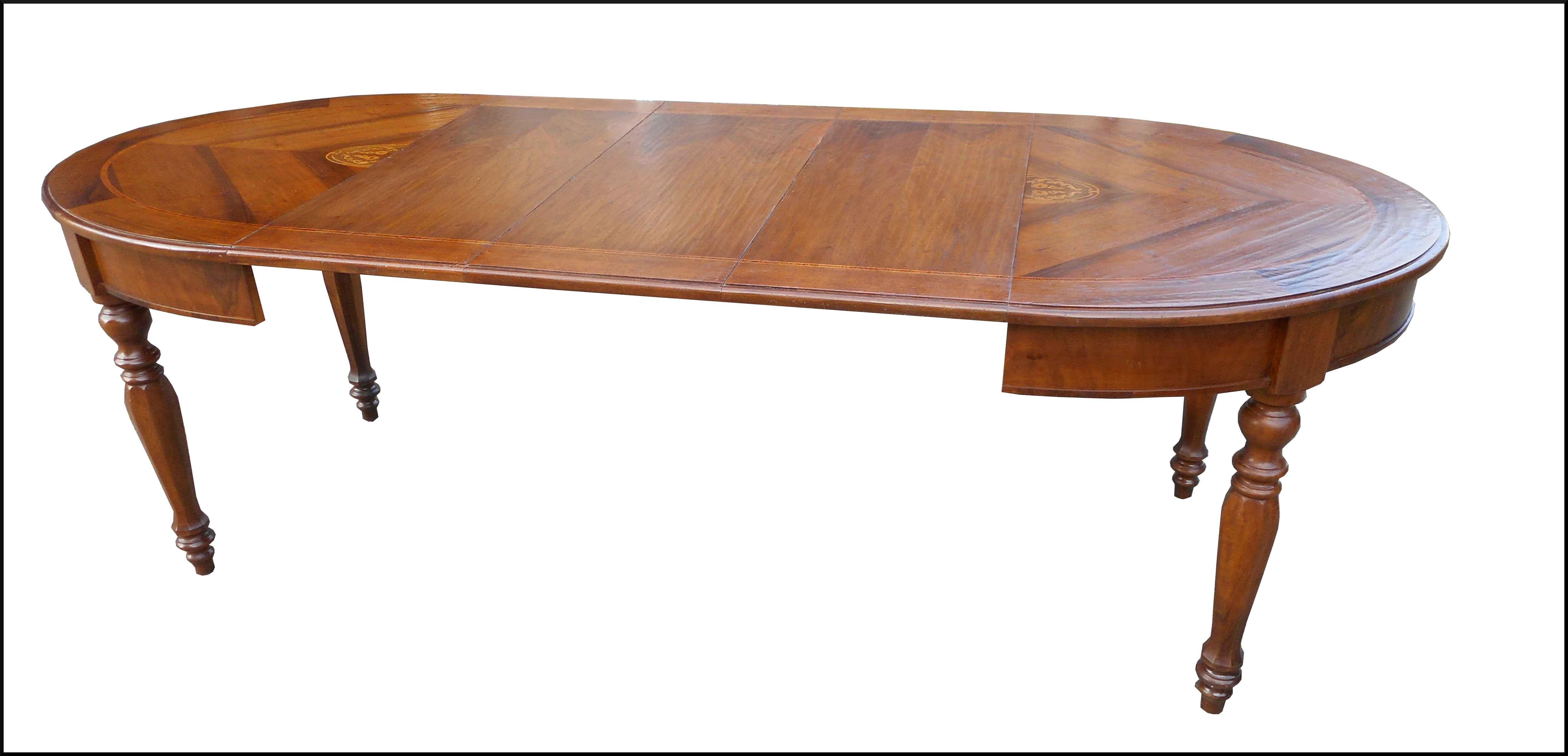 Tavolo ovale classico allungabile la commode di davide corno - Tavolo consolle allungabile stile classico ...