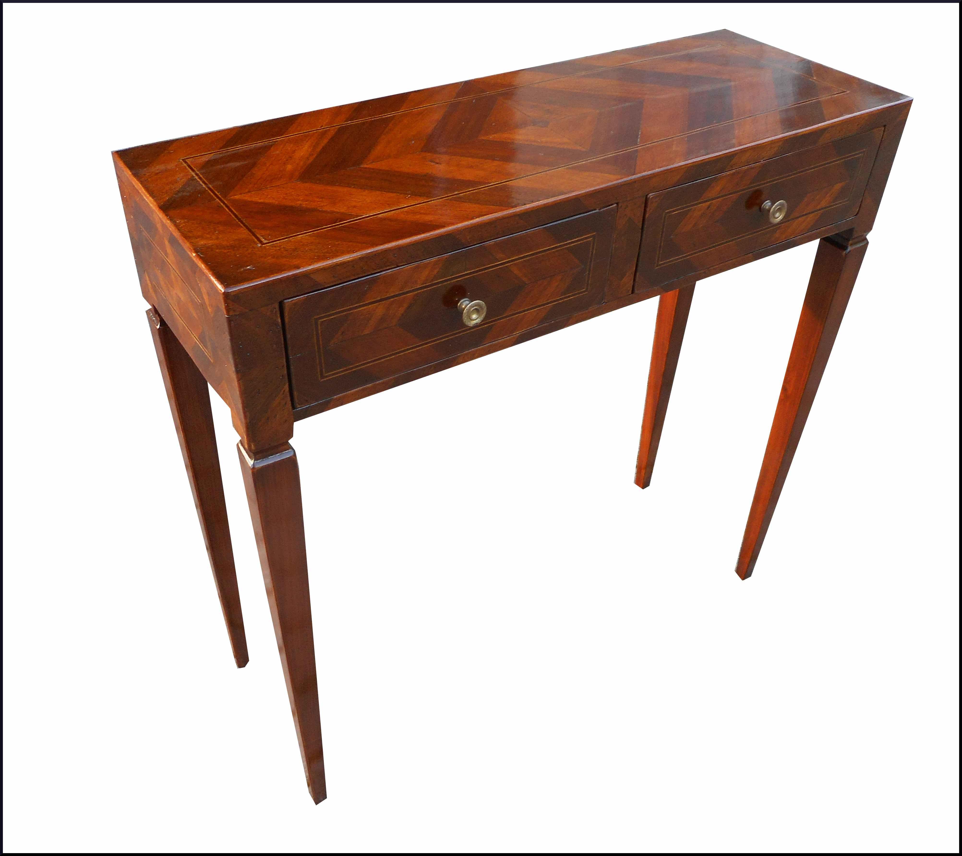 Elegante piccolo tavolino da ingresso con cassettini - La Commode di ...