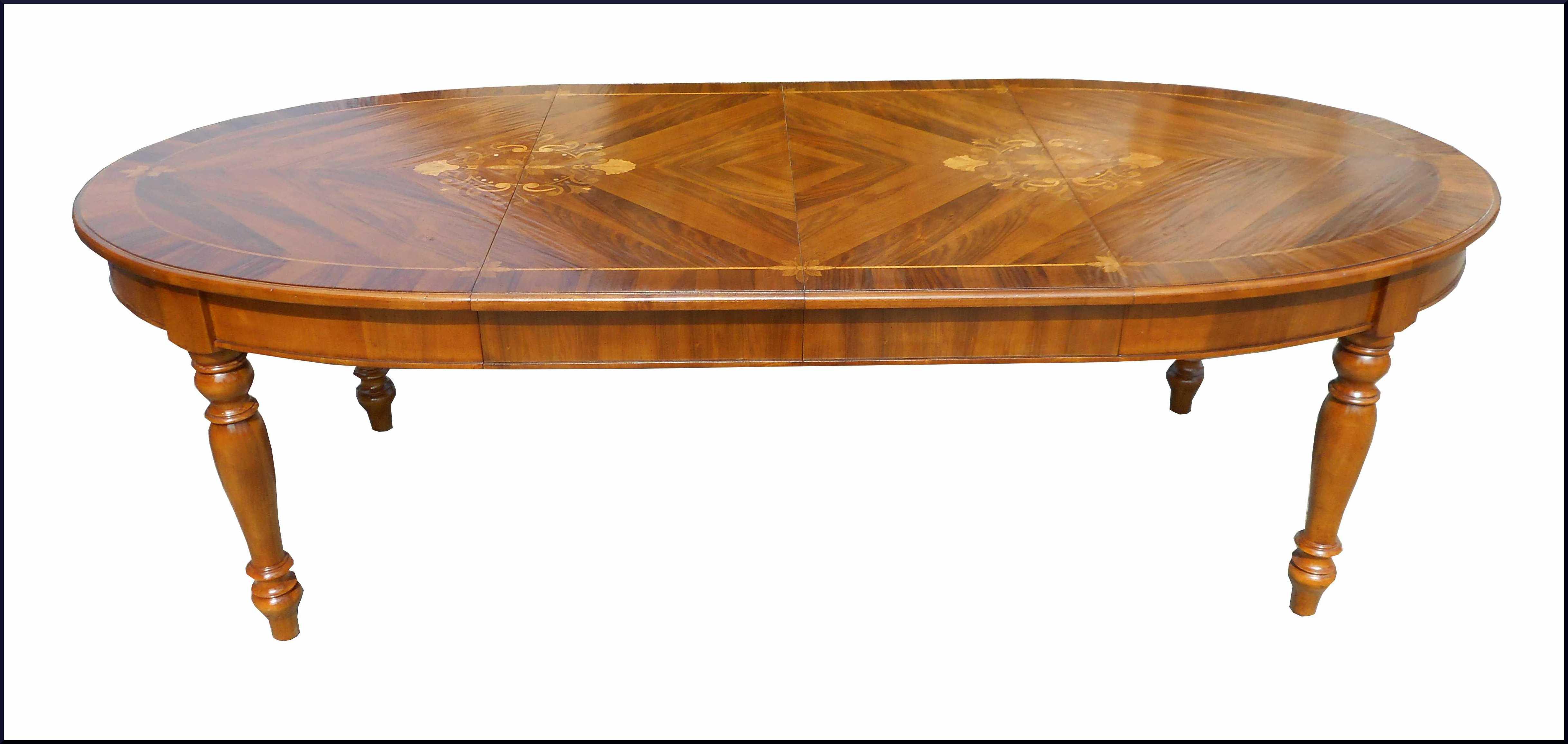 Elegante tavolo artigianale con piano intarsiato in madreperla la commode di davide corno - Tavoli ovali allungabili antichi ...