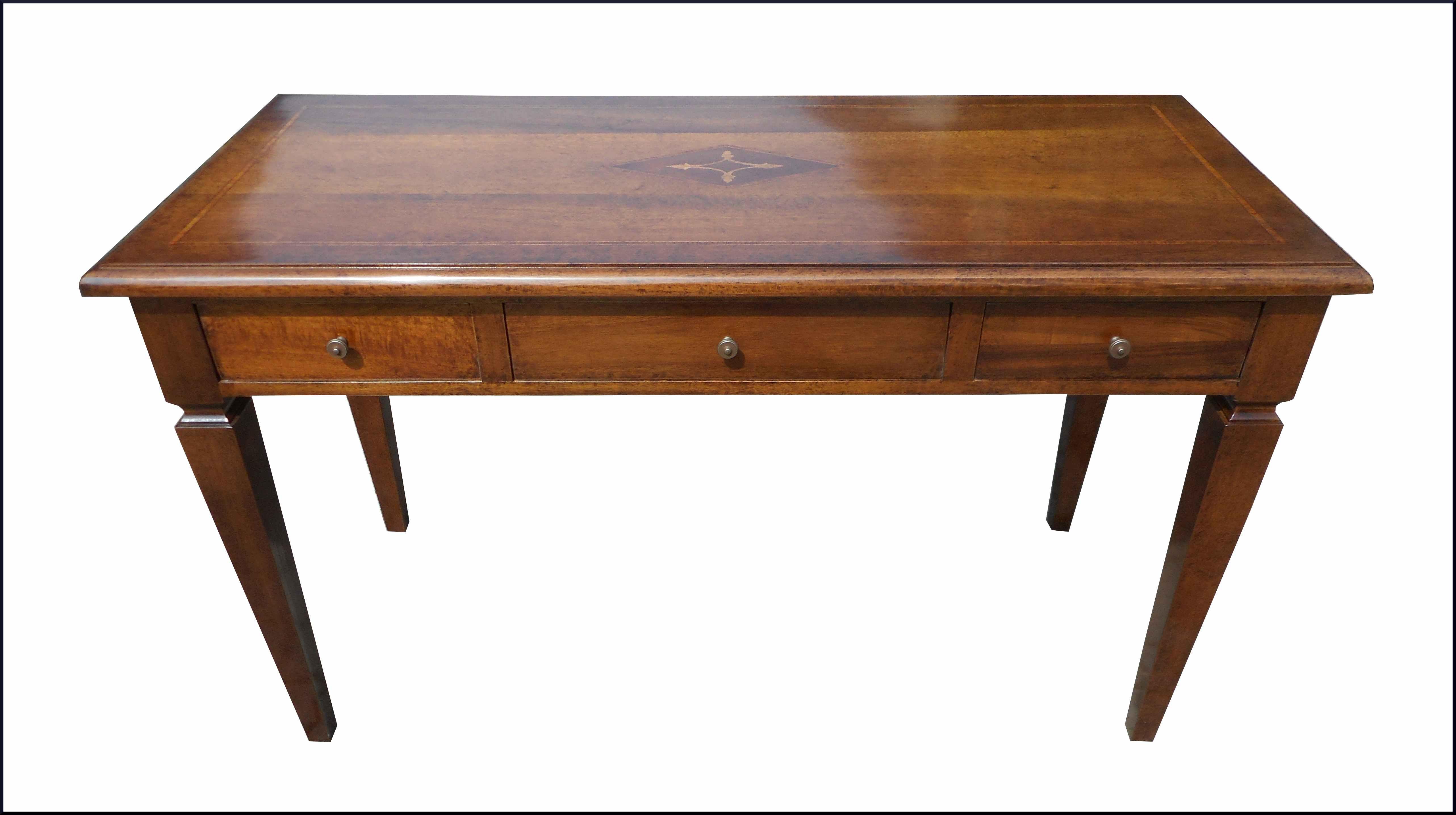 Scrittoio scrivania classica con intarsio