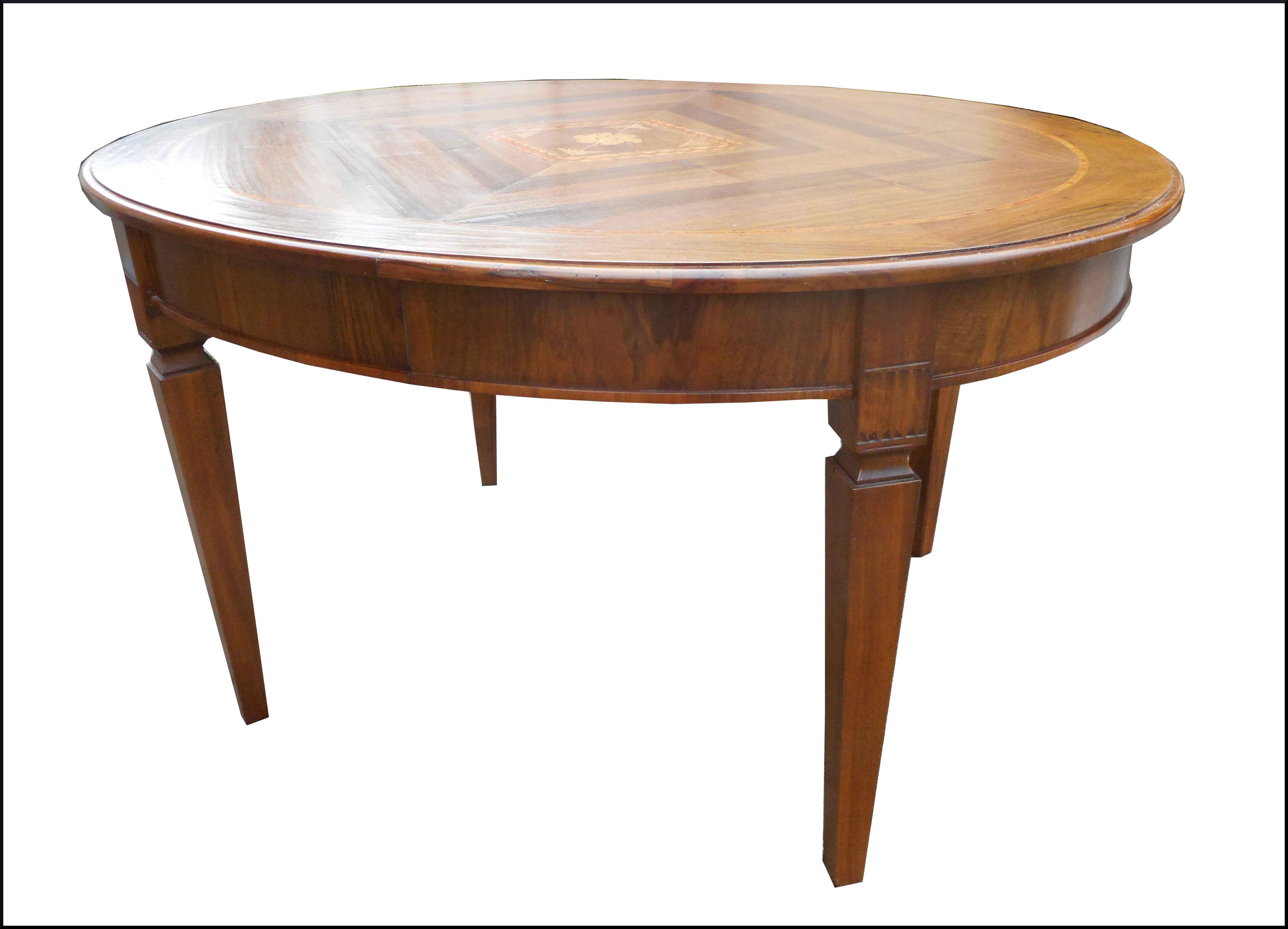 Tavolo allungabile ovale con intarsi la commode di - Tavolo ovale allungabile ...