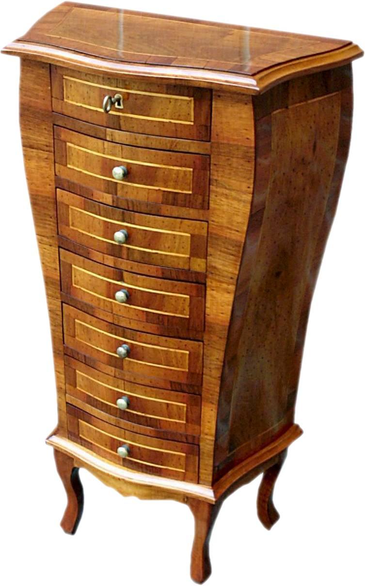 Cassettiera artigianale vecchia cerea lastronata la commode di davide corno - Mobili in stile cerea ...