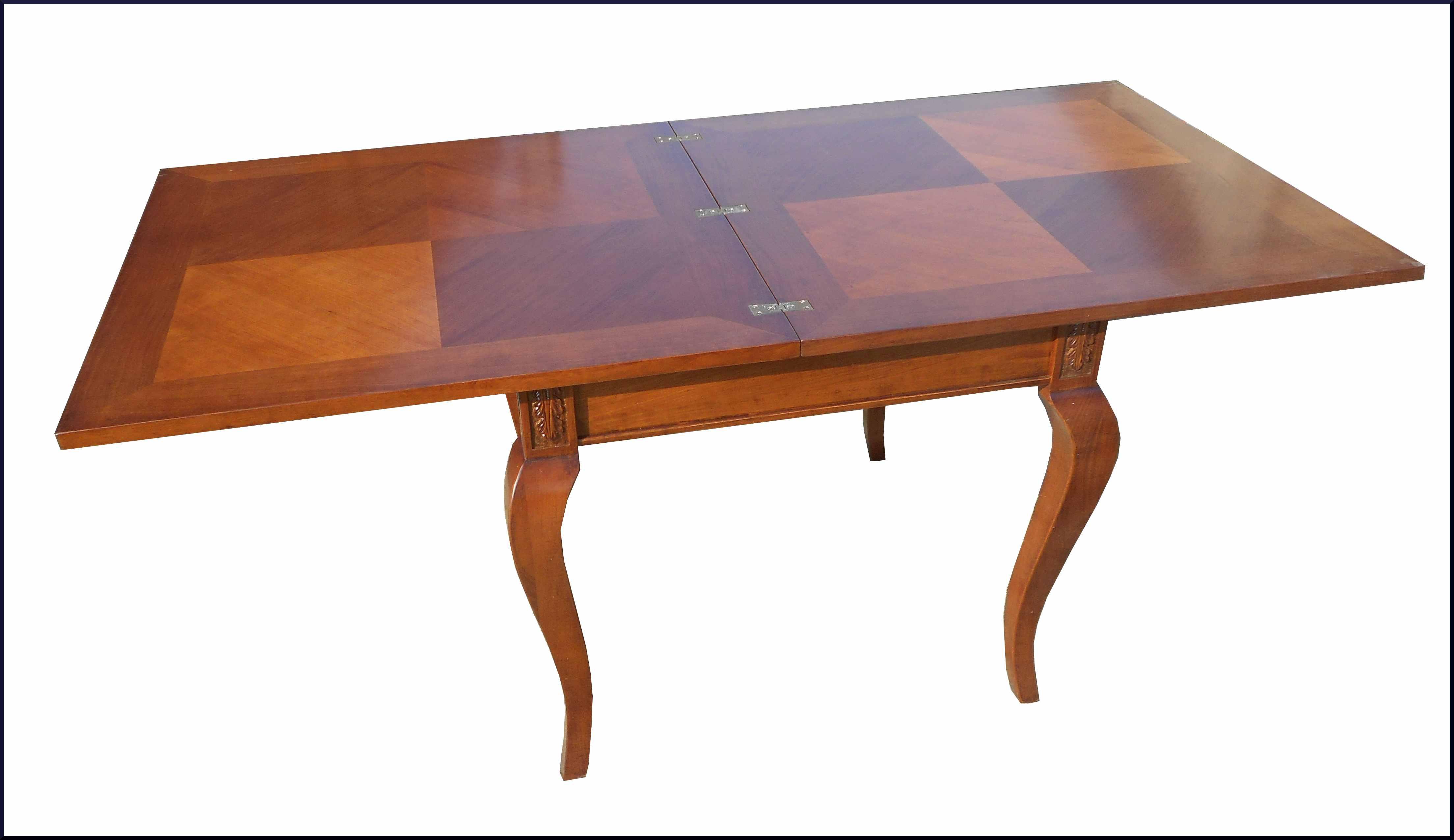 Elegante tavolo quadrato intarsiato apribile la commode for Tavolo apribile