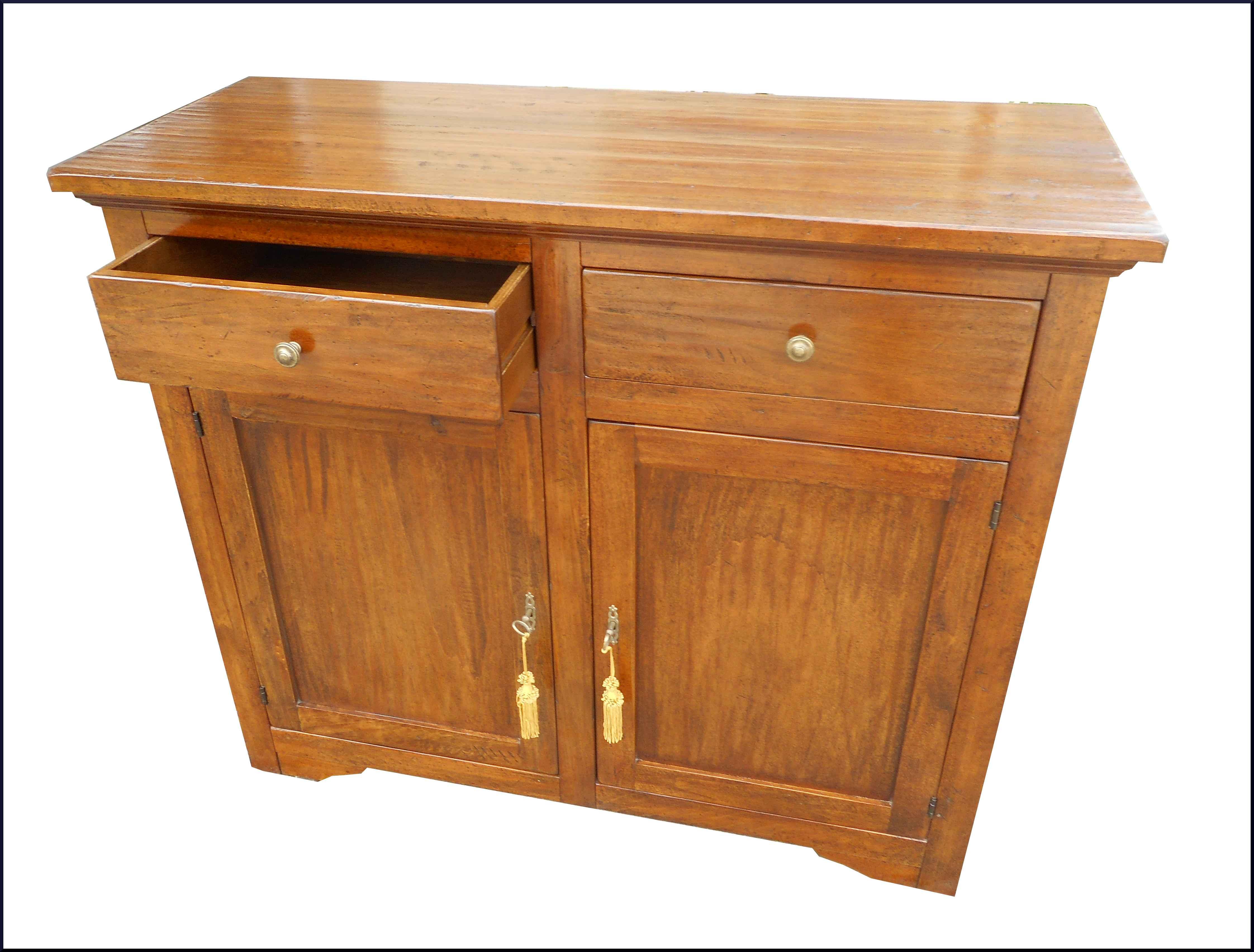 Credenza Bassa Rustica : Particolare credenza rustica in legno piallato e invecchiato con