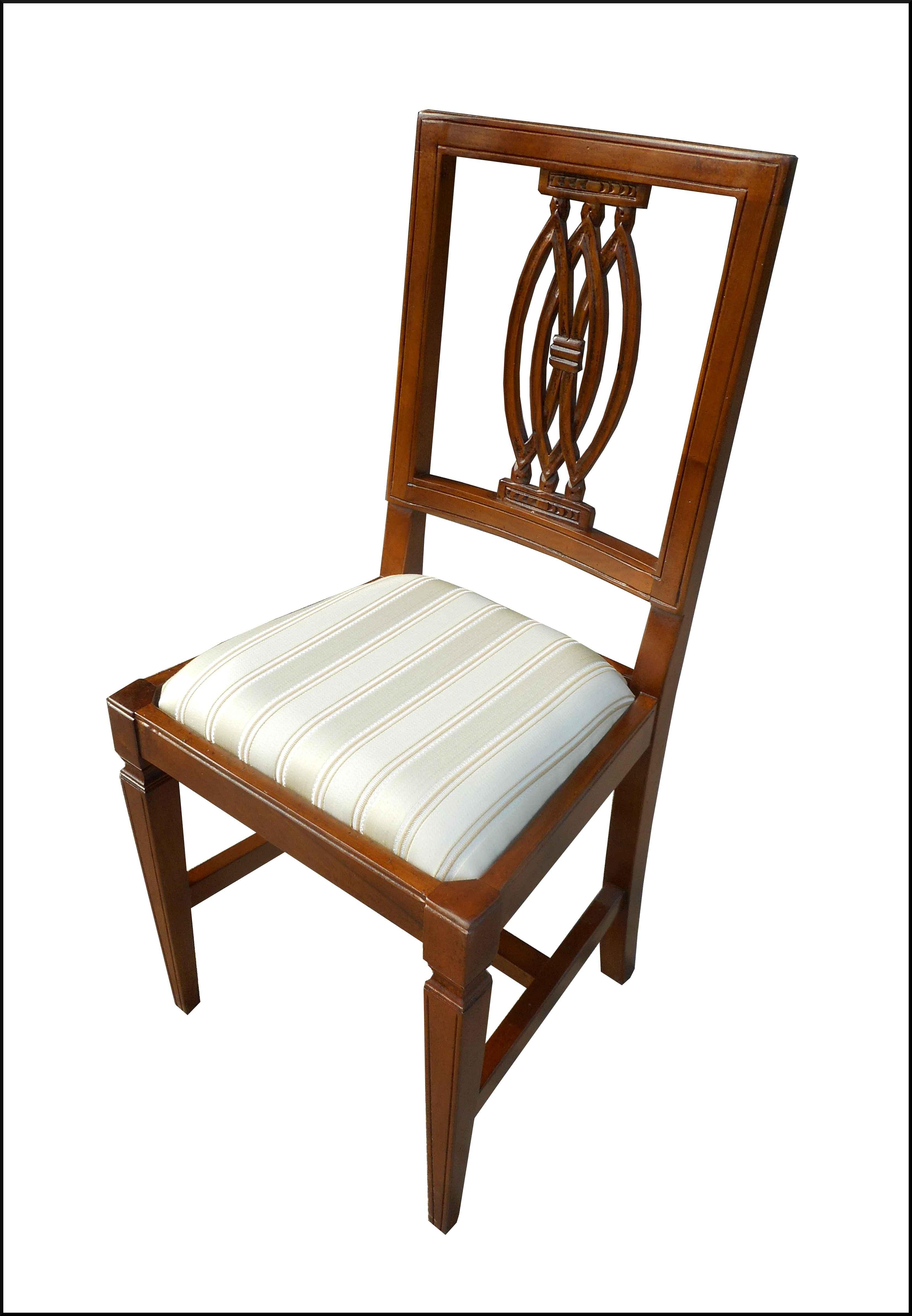 Sedia classica con seduta in stoffa