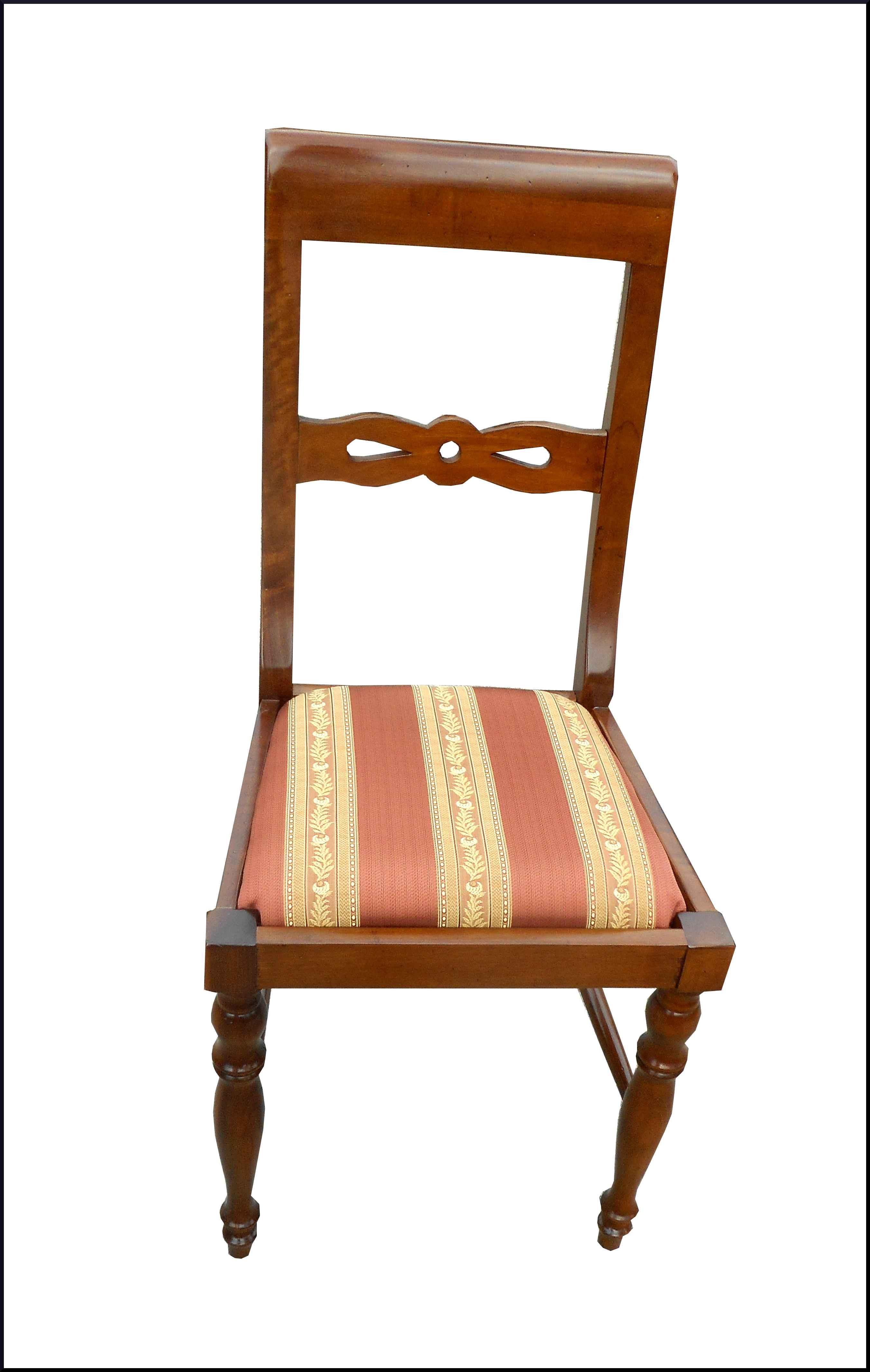 Sedia classica con stoffa