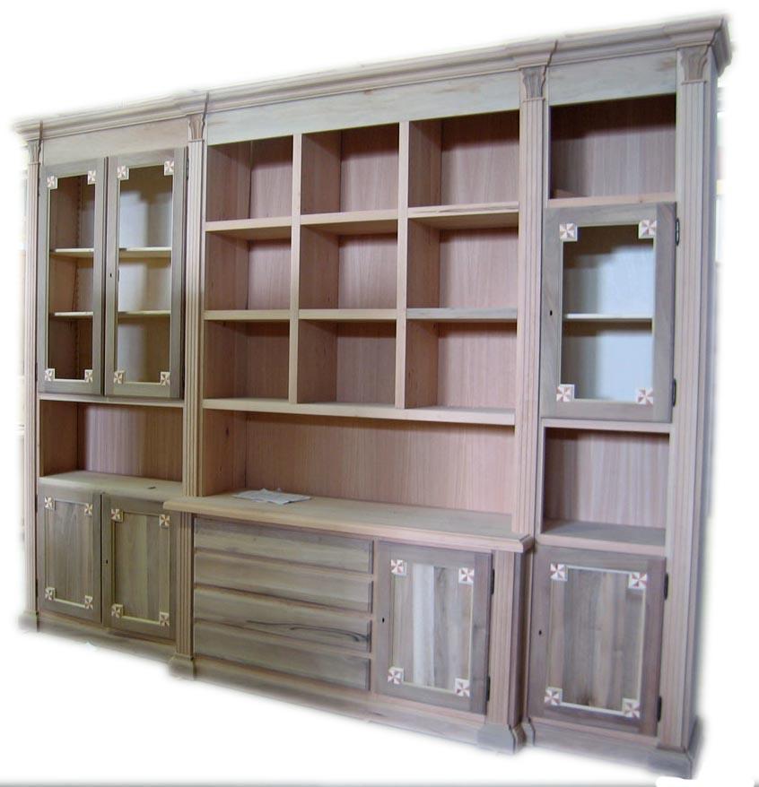 mobili classici librerie e pareti attrezzate noce la