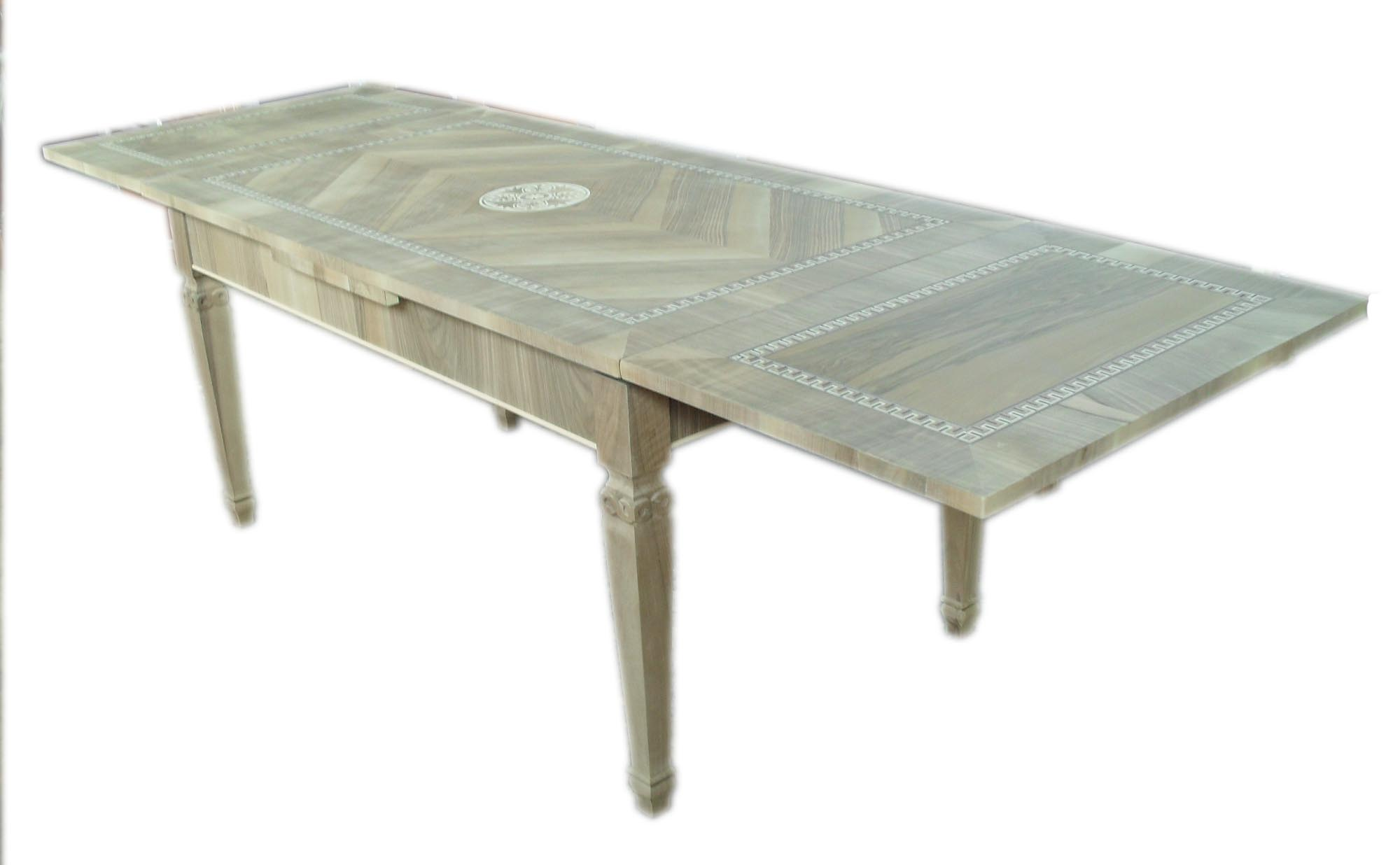 Tavolo  tiro classico allungabile gamba intagliata