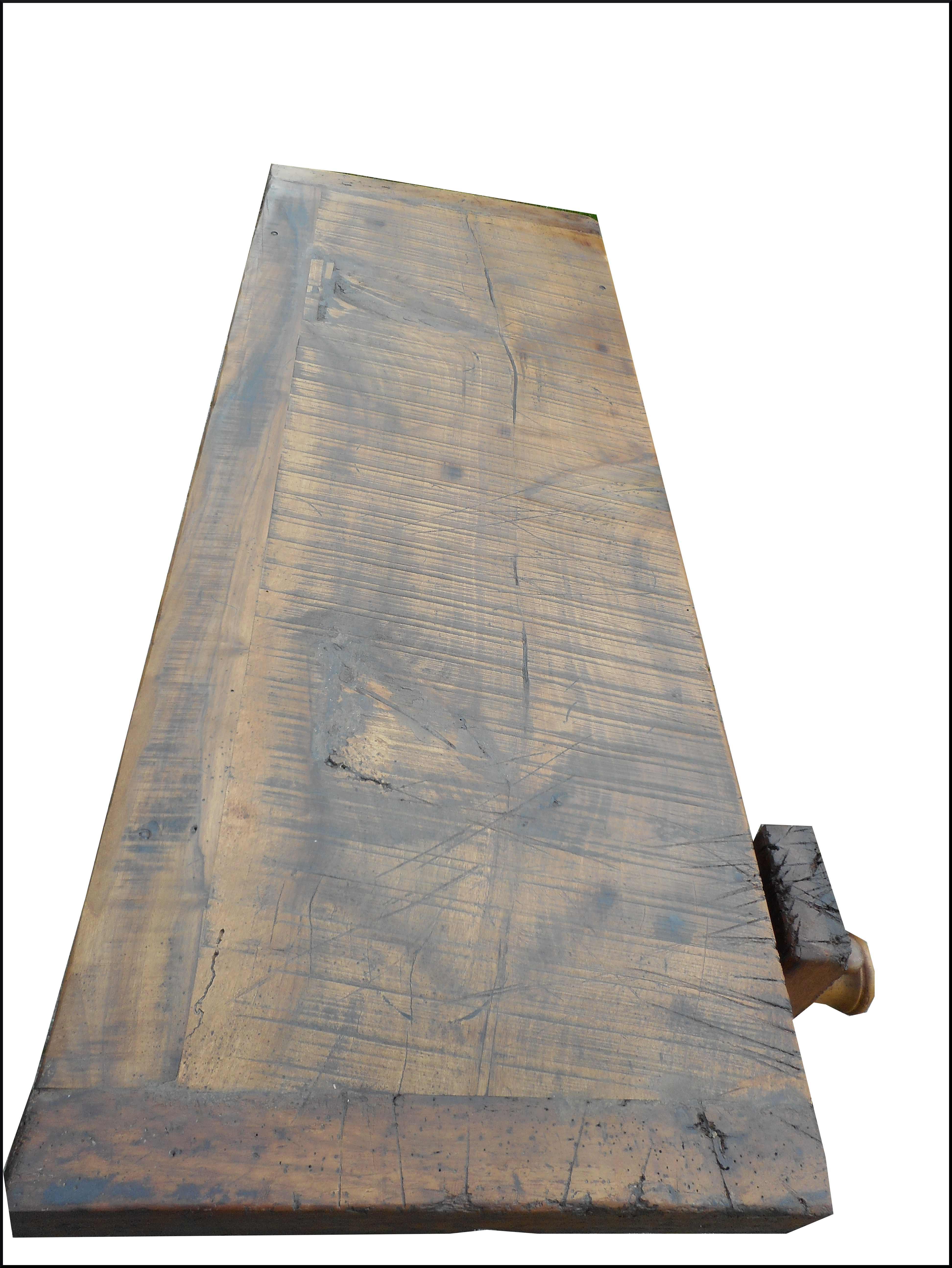 Banco da lavoro con morsa in legno